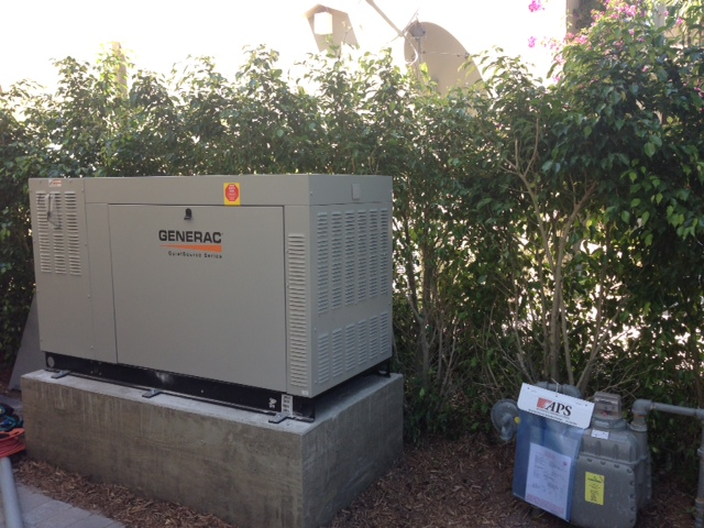 Generac 48kW on Raised Slab